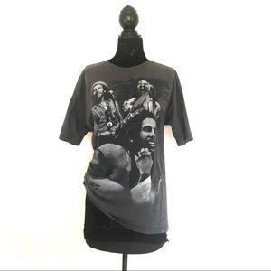 Tops - Bob Marley Gray Graphic Tee Shirt